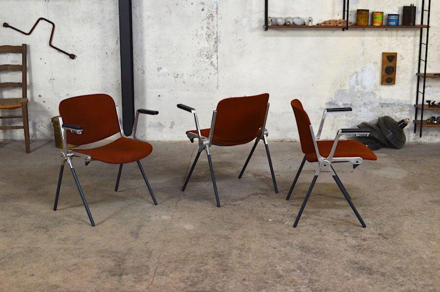 fauteuil bridge carlo design italien des ann es 70. Black Bedroom Furniture Sets. Home Design Ideas
