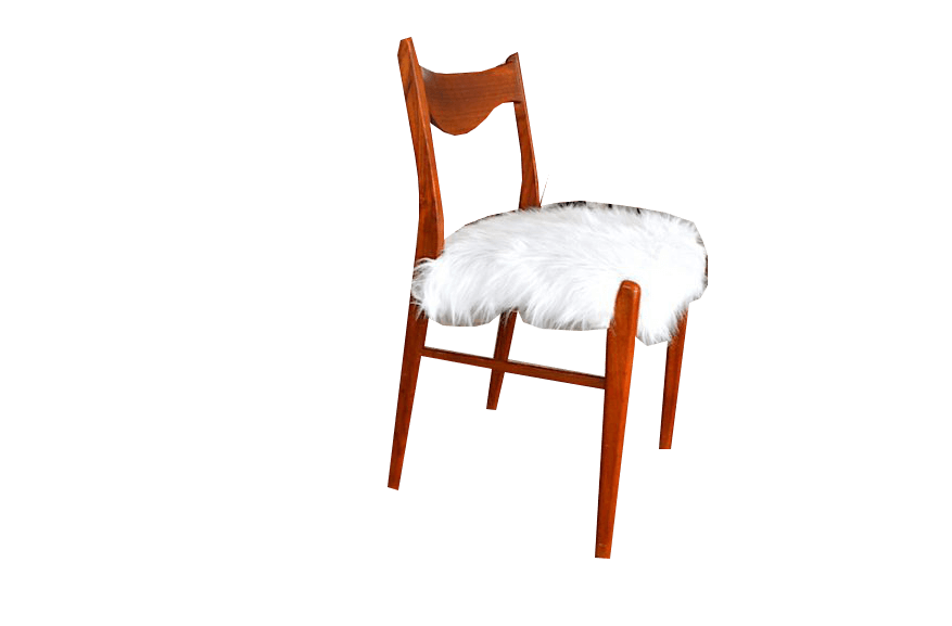 Chaise scandinave Heidi fausse fourrure