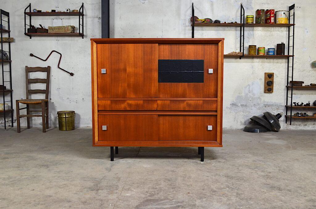 meuble knud en teck design scandinave. Black Bedroom Furniture Sets. Home Design Ideas