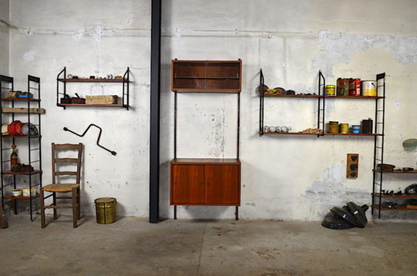 Meuble mural Paul design scandinave en teck