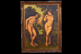 Grand tableau couple nu scène romantique – 12/0172A
