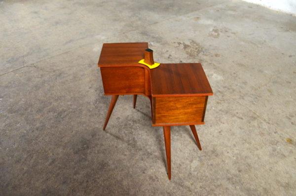 Travailleuse pieds aiguilles Simone design vintage 1960