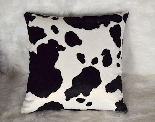 Coussin design Meuh motif vache fabriqué en France