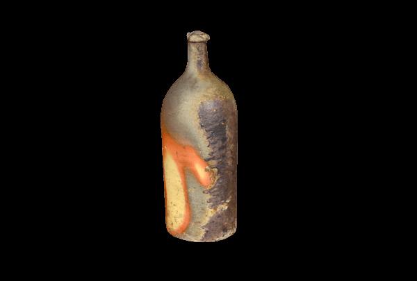 Grande bouteille vase en grés déco vintage