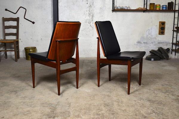 Chaise en teck Frida design scandinave année 60