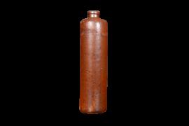 Bouteille vintage déco en grés brun Erven Lucas