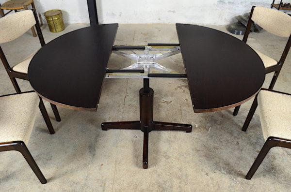 Ensemble Repas vintage table modulable et 4 chaises 1960