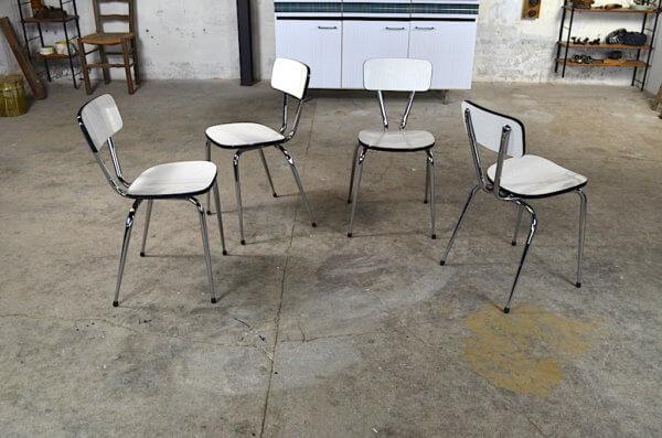 4 chaises vintage