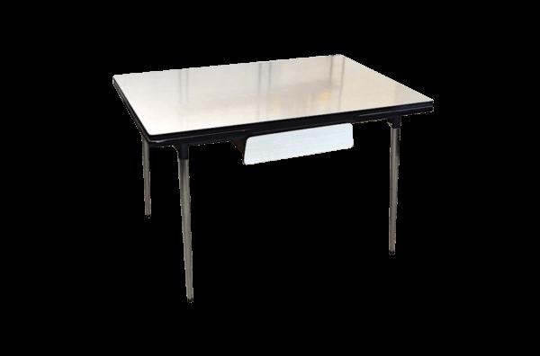 Table vintage Valérie en formica 1970 plateau de face