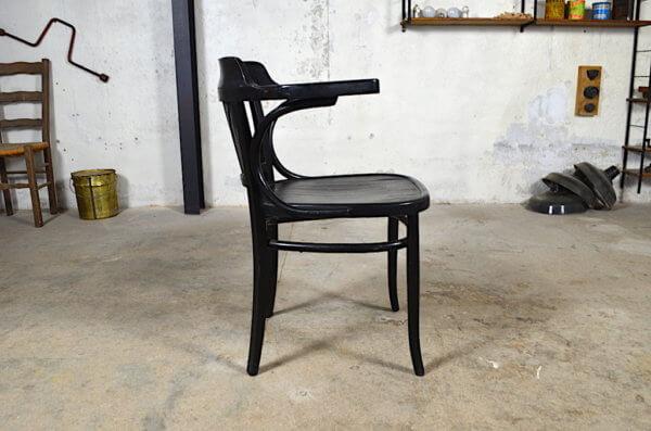 fauteuil bois courbé