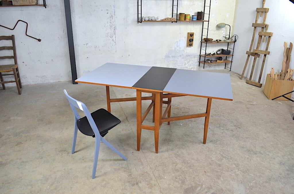 Table Et Chaise Rtro Pliante