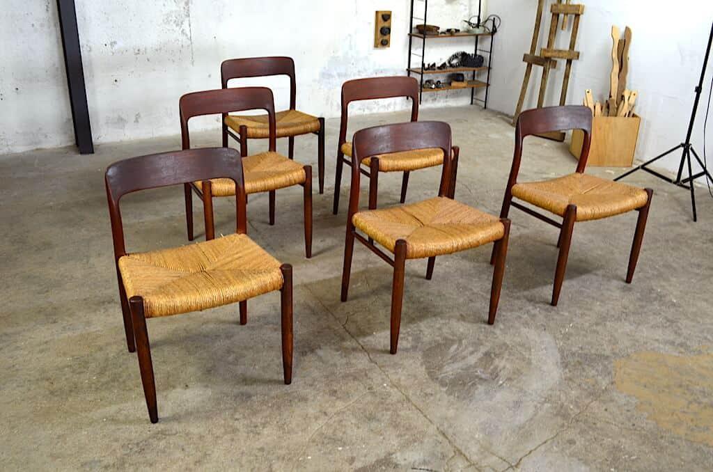 6 Chaises Danoise Vintage