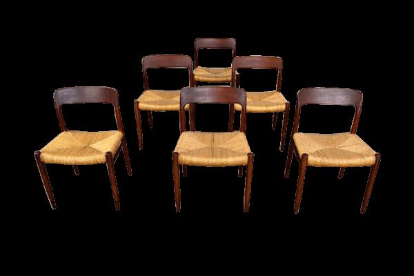 6 chaises Molles vintage