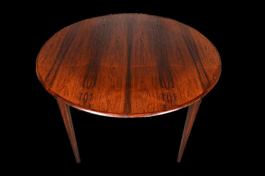 Table en palissandre de rio design scandinave - Table en palissandre massif ...