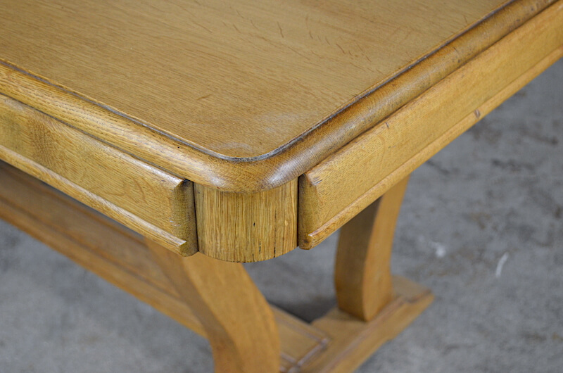 Table vintage Mariette chêne clair 1950 ⋘ RetourVersLeVintage.fr ⋙