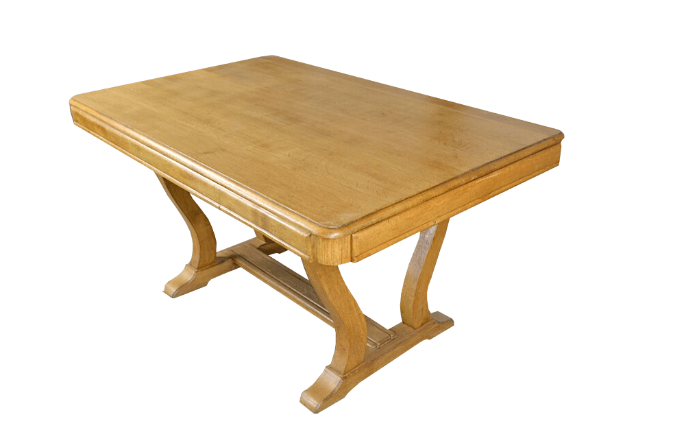 Table vintage Mariette chêne clair 1950 - RetourVersLeVintage.fr