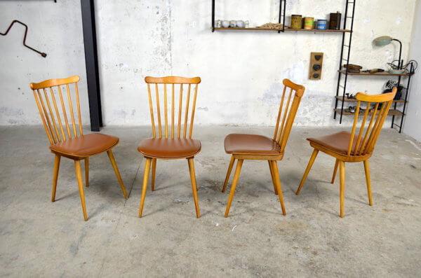Chaises de Bistrot Baumann Vintage 1960 style scandinave