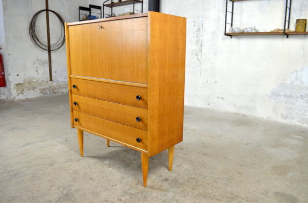 Commode secrétaire vintage Loic 1960