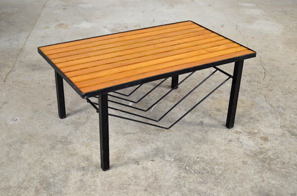 Table basse moderniste Edwige vintage 1960