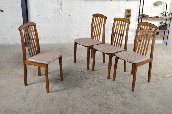 Chaises Juliette design scandinave 1970 / 1980