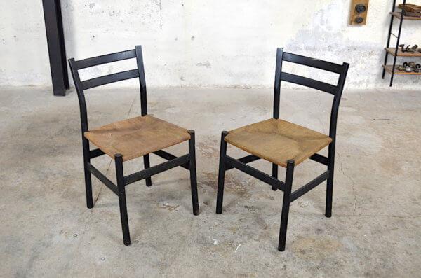 Paire de chaises Clara design vintage & scandinave 1960 Gessef design italien