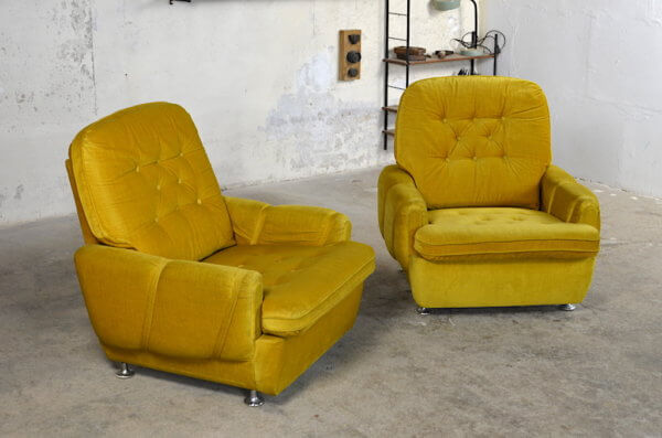 Duo de fauteuils vintage Pierre 1970