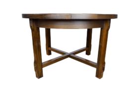 Table ronde / ovale vintage en orme Aranjou